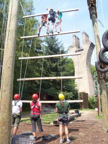 Hochseilgarten Ahrweiler Riesenleiter-Team